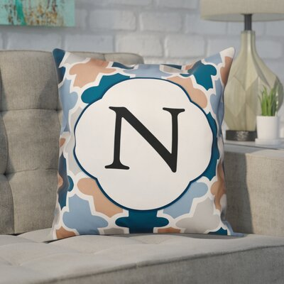 Comstock Monogram Throw Pillow Letter: N