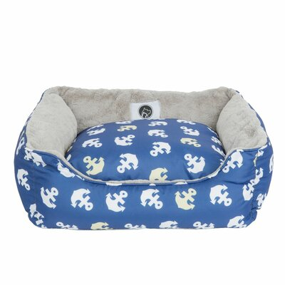 Anchors Away Reversible Pet Bolster Size: Small (22 D x 19 W x 6 H)