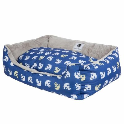 Anchors Away Reversible Pet Bolster Size: Medium (23 D x 22 W x 7 H)