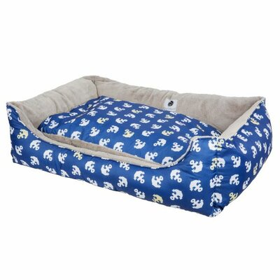 Anchors Away Reversible Pet Bolster Size: Large (45 D x 30 W x 10 H)