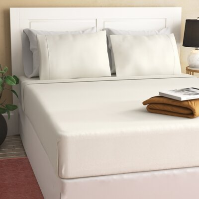 Peter Super Soft Solid Flannel Sheet Set Color: Pristine Ivory, Size: Twin