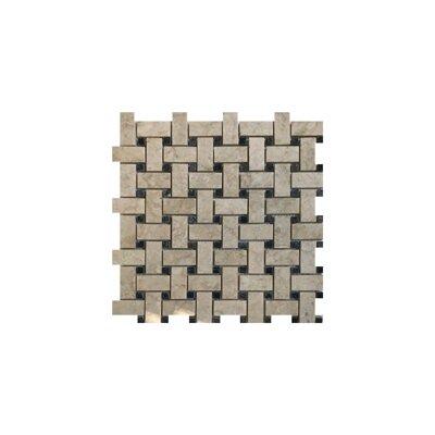Olympos Basket Weave 1 x 2 Marble Mosaic Tile in Beige