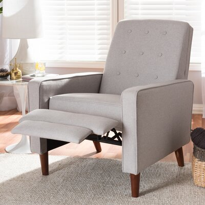 Chon Manual Recliner Upholstery: Light Gray