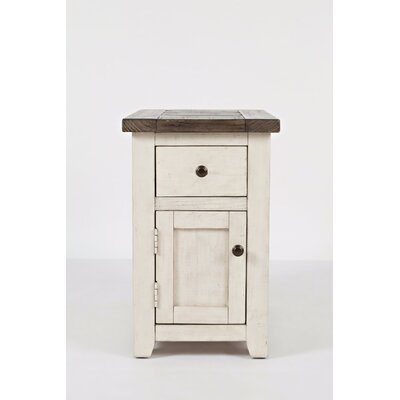 Westhoff End Table with Storage Table Base Color: White