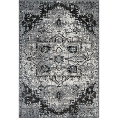 Honig Transitional Ivory Area Rug Rug Size: Rectangle 4 x 6
