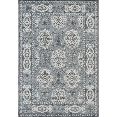 Honig Transitional Steel Blue Area Rug Rug Size: Rectangle 89 x 119