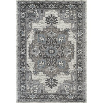 Honig Transitional Gray Area Rug Rug Size: Rectangle 4 x 6