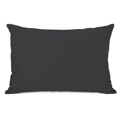 Bilderback Charcoal Outdoor Lumbar Pillow Color: Charcoal