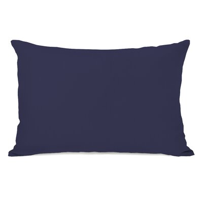 Bilderback Charcoal Outdoor Lumbar Pillow Color: Midnight