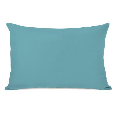 Bilderback Charcoal Outdoor Lumbar Pillow Color: Sky Blue