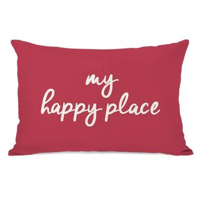 Peltz My Happy Place Outdoor Lumbar Pillow Color: Rose