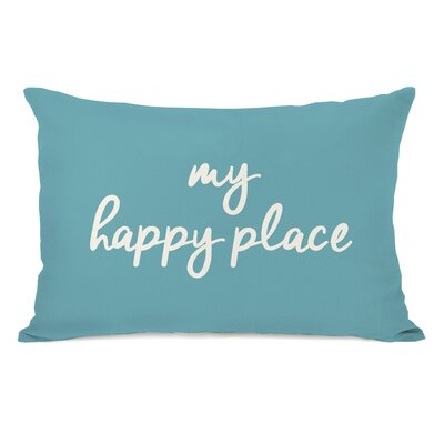 Peltz My Happy Place Outdoor Lumbar Pillow Color: Sky