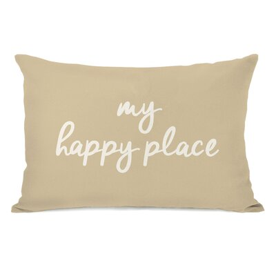 Peltz My Happy Place Outdoor Lumbar Pillow Color: Sand