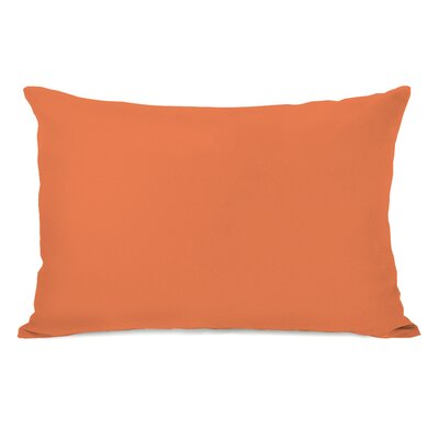 Bilderback Charcoal Outdoor Lumbar Pillow Color: Tangerine