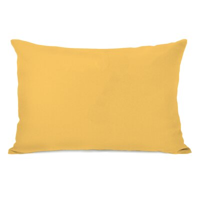 Bilderback Charcoal Outdoor Lumbar Pillow Color: Dandelion