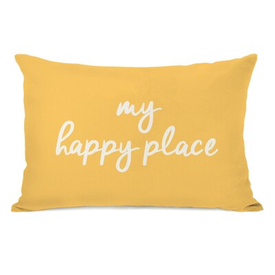 Peltz My Happy Place Outdoor Lumbar Pillow Color: Dandelion