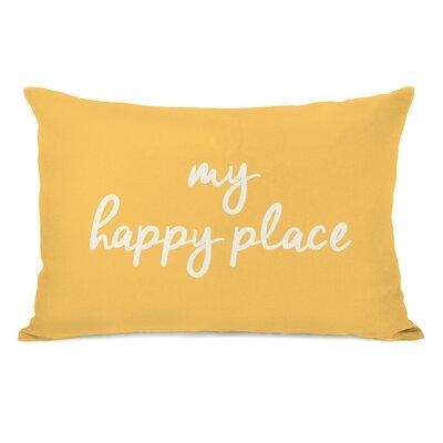 Peltz My Happy Place Outdoor Lumbar Pillow Color: Dandelion