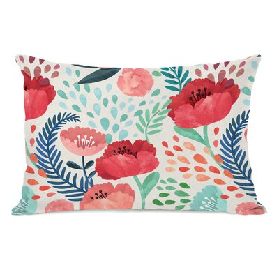 Osteen Florals Outdoor Lumbar Pillow