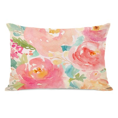 Lafon Popping Peonies Outdoor Lumbar Pillow