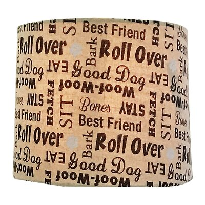 Dog Lover Print Hardback Paper Drum Lamp Shade Size: 12 H x 18 W x 18 D