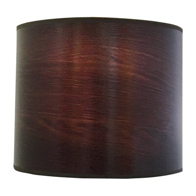 Wood Texture Hardback Paper Drum Lamp Shade Finish: Brown, Size: 9 H x 12 W x 12 D