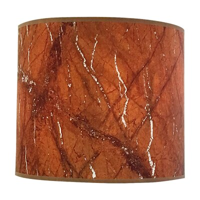 Marble Texture Hardback Paper Drum Lamp Shade Size: 10 H x 14 W x 14 D