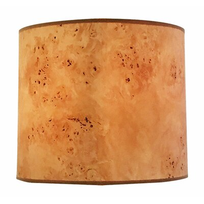 Wood Texture Hardback Paper Drum Lamp Shade Size: 10 H x 14 W x 14 D