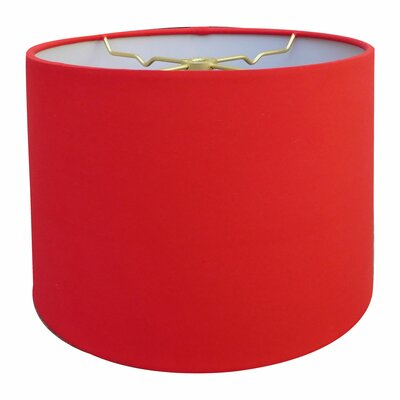 Shallow Hardback Paper Drum Lamp Shade Size: 9 H x 13 W x 13 D