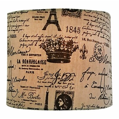 Eggshell And French Print Drum Lamp Shade Size: 10 H x 16 W x 16 D