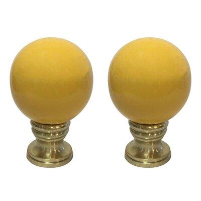 Ceramic Sphere Lamp Finial Finish: Yellow