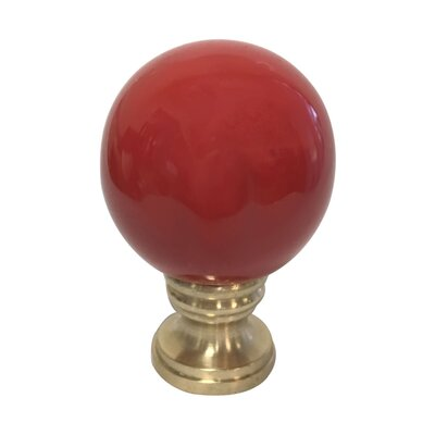 Ceramic Sphere Lamp Finial Finish: Red