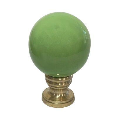 Ceramic Sphere Lamp Finial Finish: Green