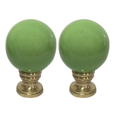 Ceramic Sphere Lamp Finial Finish: Green