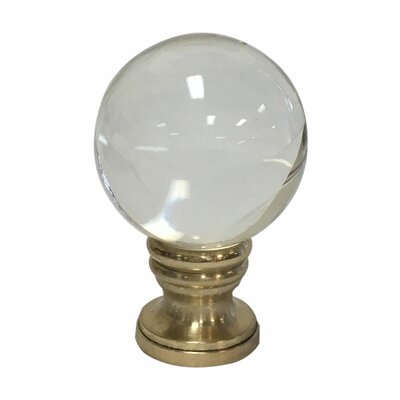 Crystal Ball Lamp Finial Finish: Polished Brass Base