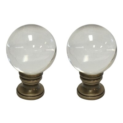 Crystal Ball Lamp Finial Finish: Antique Brass Base