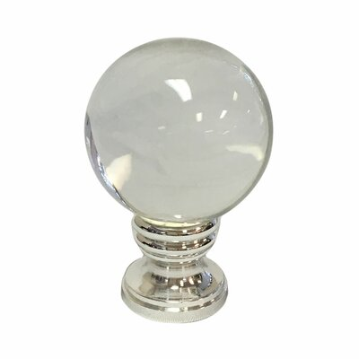 Crystal Ball Lamp Finial Finish: Polished Silver Base