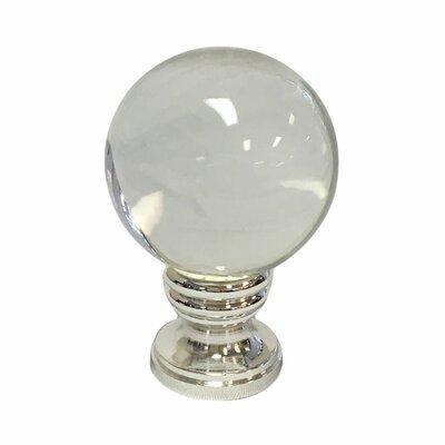 Crystal Ball Lamp Finial Finish: Polished Silver Base