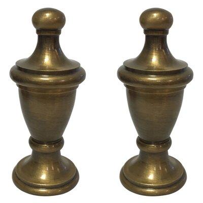Simple Vase Design Lamp Finial Finish: Antique Brass/Beige