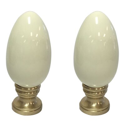 Ceramic Egg Shaped Lamp Finial Finish: Beige
