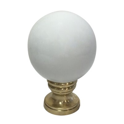 Ceramic Sphere Lamp Finial Finish: White