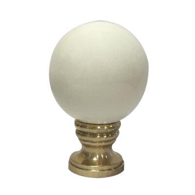 Ceramic Sphere Lamp Finial Finish: Beige