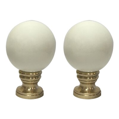 Ceramic Sphere Lamp Finial Finish: Beige