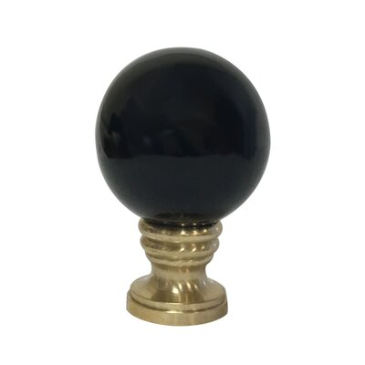 Ceramic Sphere Lamp Finial Finish: Black