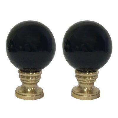 Ceramic Sphere Lamp Finial Finish: Black