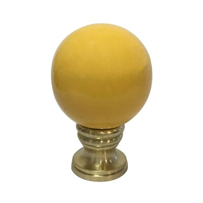 Ceramic Sphere Lamp Finial Finish: Yellow