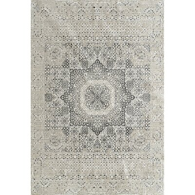 Cadence Transitional Platinum Area Rug Rug Size: Rectangle 53 x 76