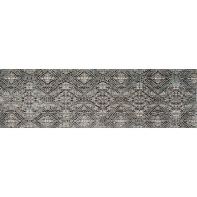 Foskey Transitional Gray Area Rug Rug Size: Runner 26 x 8