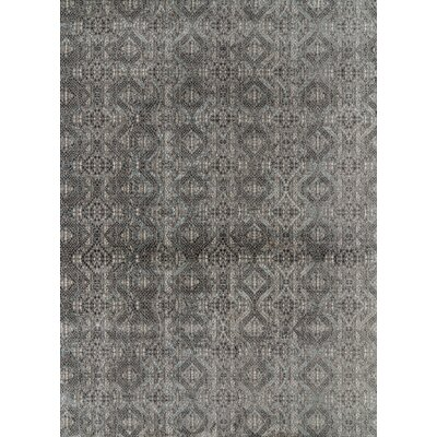 Foskey Transitional Gray Area Rug Rug Size: Rectangle 710 x 1010