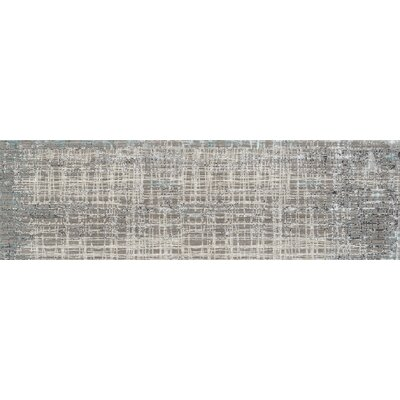 Grable Transitional Gray Area Rug Rug Size: Runner 26 x 8