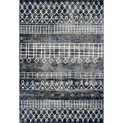 Mantz Modern Charcoal Area Rug Rug Size: Rectangle 5 x 79